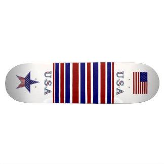 Skateboard Patriotic USA Flag Stars Stripes