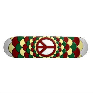 Skateboard, Peace Flower of Life, Red Yellow Green Skateboard
