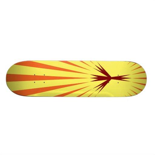 Skateboard, Peace Starburst, Yellow, Orange
