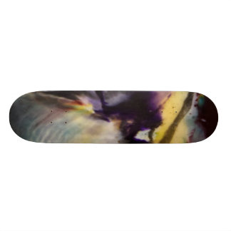 skateboard printed with original abstract art