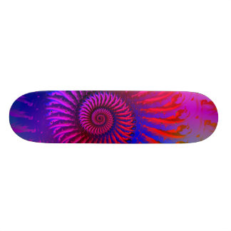 Skateboard - Psychedelic Fractal pink red purple b