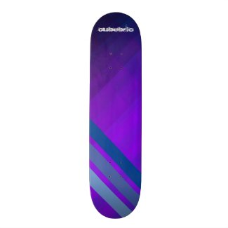 Skateboard Purple Blue Stripes Cubebric