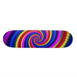 Skateboard - Rainbow Swirl Fractal Pattern