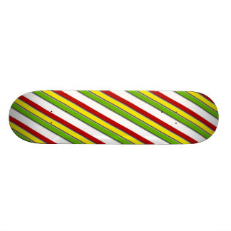 Skateboard Rasta Stripes Diagonal Red Yellow Green