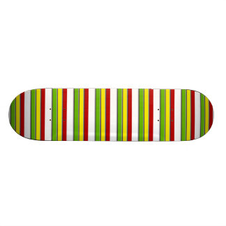 Skateboard, Rasta Stripes Horiz, Red Yellow Green Skateboard Deck