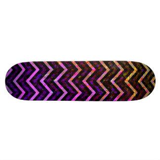 Skateboard Retro Zig Zag Chevron Pattern