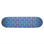 Skateboard Seamless retro pattern