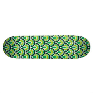 Skateboard Seamless retro pattern