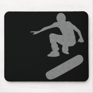 skateboard. silhouettes. mouse pad