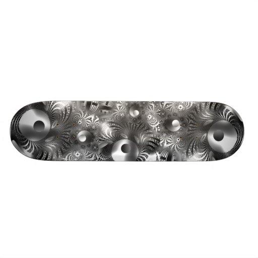 Skateboard Silver Space Custom Skate Board