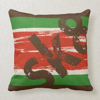 Skateboard Sk8 Word Art Throw Pillow Vintage Color