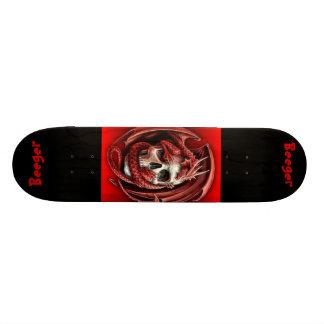 Skateboard - Skull and Dragon