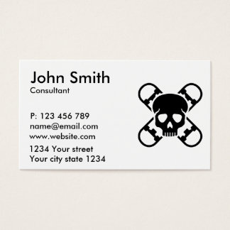 Skateboard skull business card