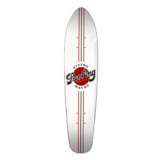 skateboard surfing riding waves