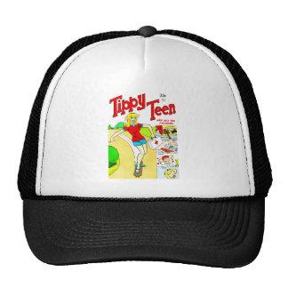 Skateboard Teen Girl Cartoon Trucker Hats