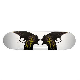 skateboard template, guns camo angled