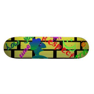 skateboard, toys, limin, trini, gifts, kids, lime skateboard deck