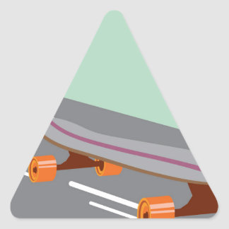 Skateboard Triangle Sticker