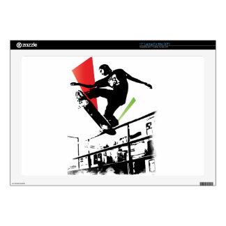 "Skateboard tricks 17"" laptop skins"