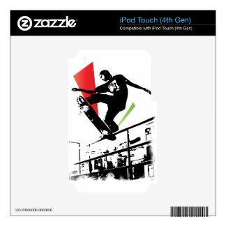 Skateboard tricks iPod touch 4G decals
