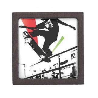 Skateboard tricks jewelry box