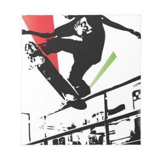 Skateboard tricks notepad