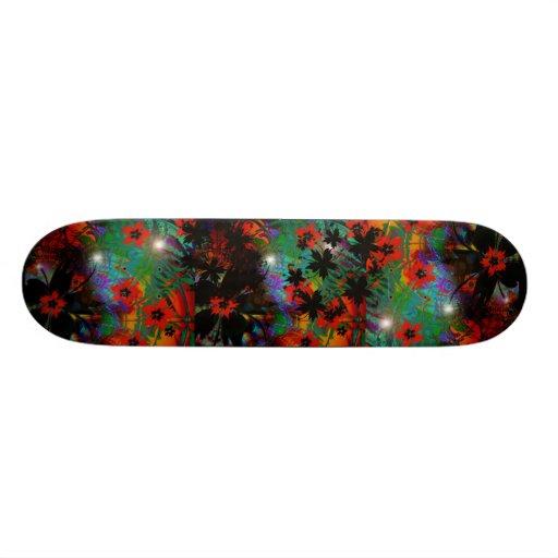 Skateboard Tropical Flowers Skateboard Decks