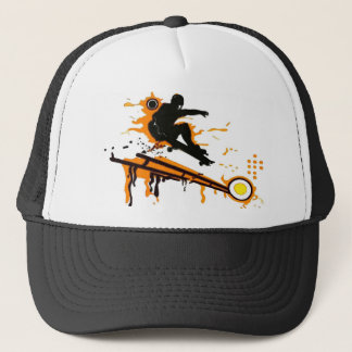 skateboard trucker hat