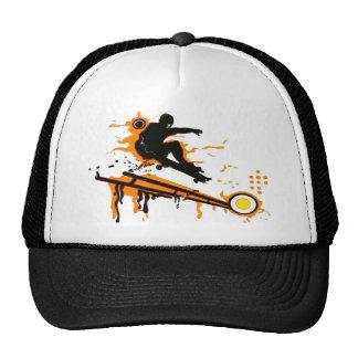 skateboard trucker hat