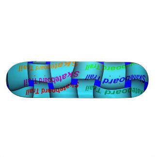 Skateboard -Turquoise Weave