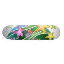 Skateboard - Under the Sea Pop Art Starfish