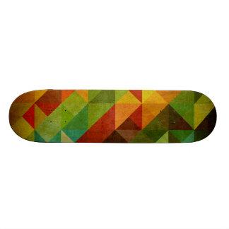Skateboard vintage trinagle background