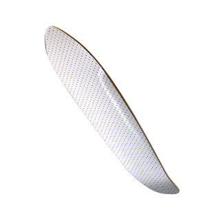 Skateboard White with Royal Blue Dots