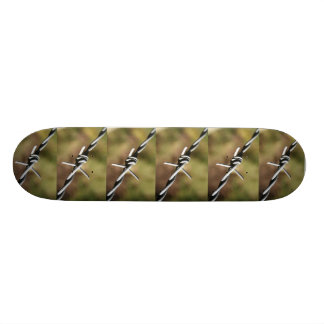 Skateboard with Barbed Wire Design