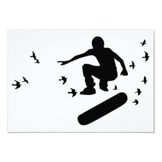 skateboard with birds personalized announcements