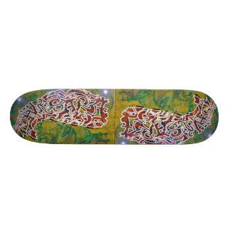 Skateboard with Buddhist graffiti Design SAMSARA