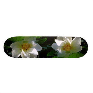 Skateboard with delicate white Lotus Flower