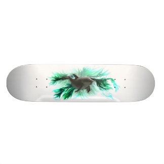 Skateboard with dolphin baby