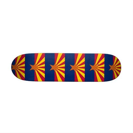 Skateboard with flag of Arizona