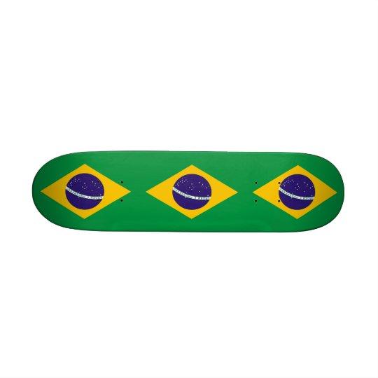 Skateboard with flag of Brazil