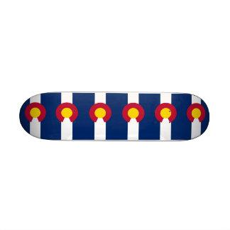Skateboard with flag of Colorado