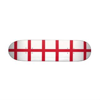 Skateboard with flag of England