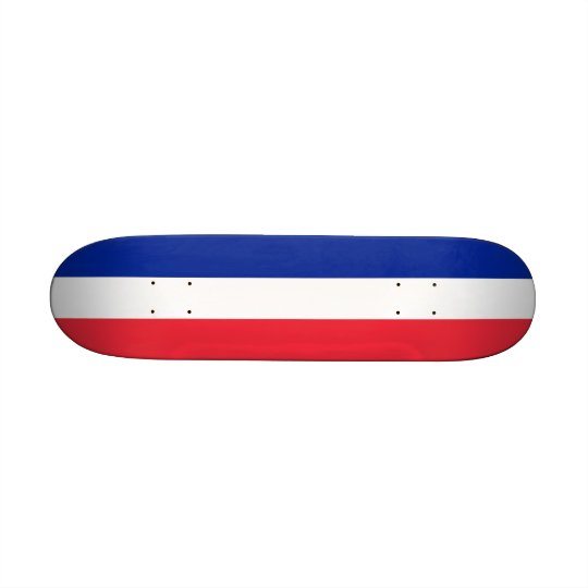 Skateboard with flag of France