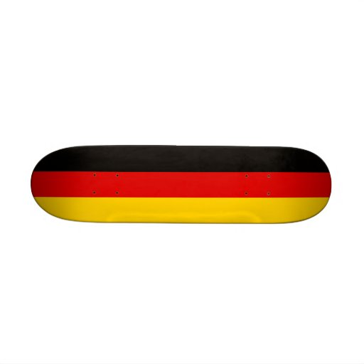 Skateboard with flag of Germany