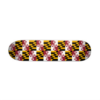Skateboard with flag of Maryland