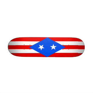 Skateboard with flag of Puerto Rico