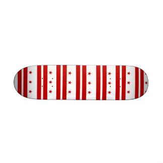 Skateboard with flag of Washington DC