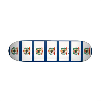 Skateboard with flag of West Virginia