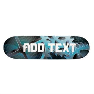 skateboard with gears
