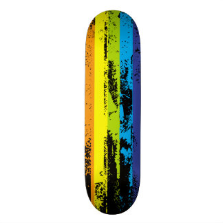 skateboard with grunge paint stripes